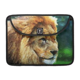 Lion In Nature Impressionist Art MacBook Pro Sleeve