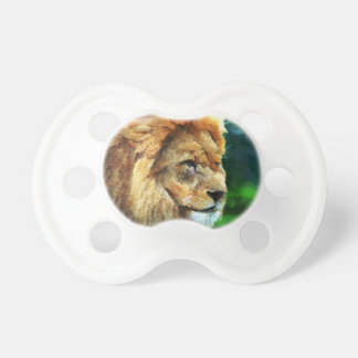 Lion In Nature Impressionist Art Pacifier