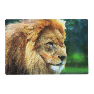 Lion In Nature Impressionist Art Placemat