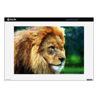 Lion In Nature Impressionist Art Skins For Laptops