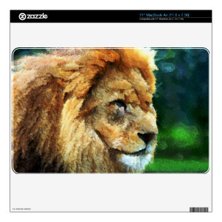 Lion In Nature Impressionist Art Skins For MacBook