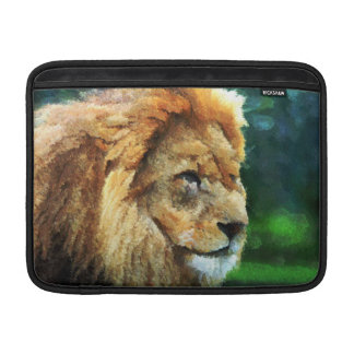Lion In Nature Impressionist Art Sleeve For MacBook Air