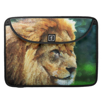 Lion In Nature Impressionist Art Sleeve For MacBook Pro