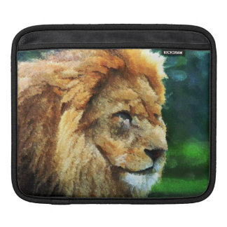 Lion In Nature Impressionist Art Sleeves For iPads