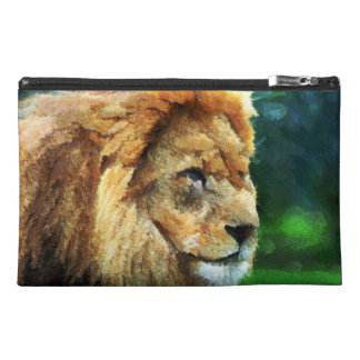 Lion In Nature Impressionist Art Travel Accessory Bag