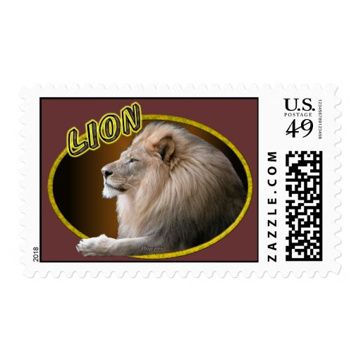 Lion In Oval Stamp