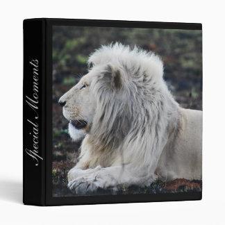 Lion in repose binder