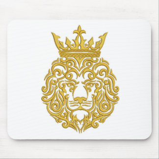 lion in the crown, imitation of embroidery mouse pad