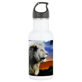 Lion in the jungle 18oz water bottle