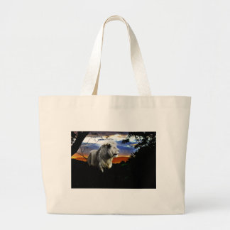 Lion in the jungle bags