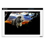Lion in the jungle laptop decals