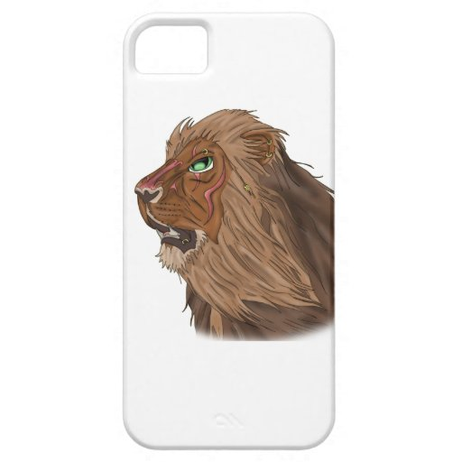 Lion in the Wind iPhone 5/5S Cover