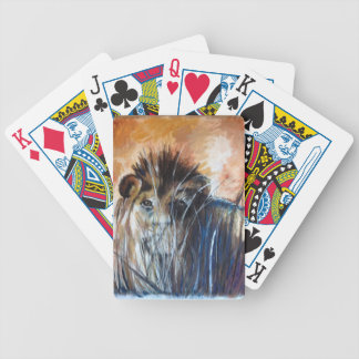 Lion in wait bicycle playing cards