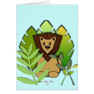 Lion in Wait Card
