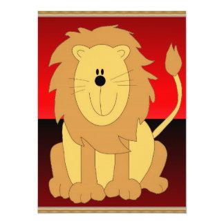 Lion Invitation