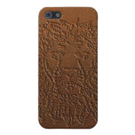 Lion iPhone case brown leather iPhone 5 Cases