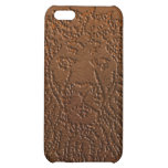 Lion iPhone case brown leather iPhone 5C Case