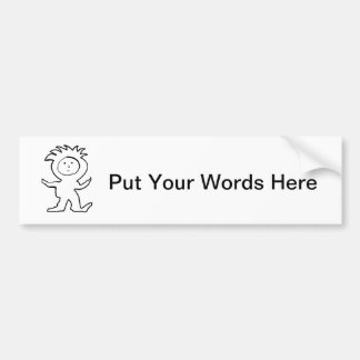 Lion Jammies Kid Car Bumper Sticker
