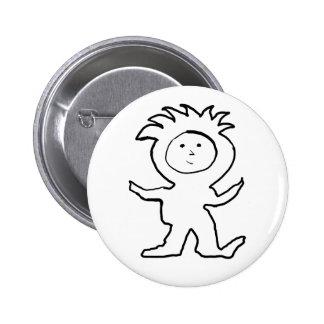 Lion Jammies Kid Pinback Button