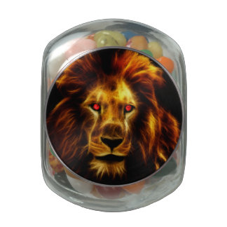 Lion Jelly Belly Candy Jars