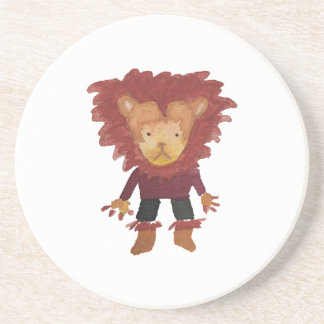Lion Jungle Friends Baby Animal Water Color Coaster