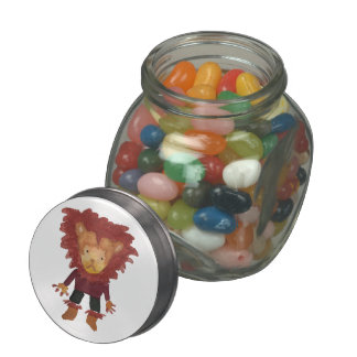 Lion Jungle Friends Baby Animal Water Color Glass Candy Jars