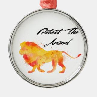Lion Jungle Metal Ornament