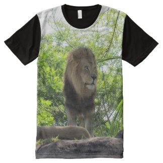 Lion Keeping Watch T-Shirt