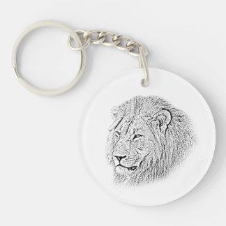 Lion Keychain - Africa Series Round Acrylic Keychain
