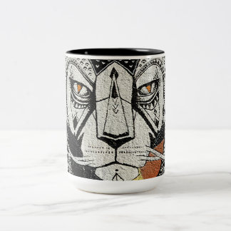 Lion kind Two-Tone coffee mug