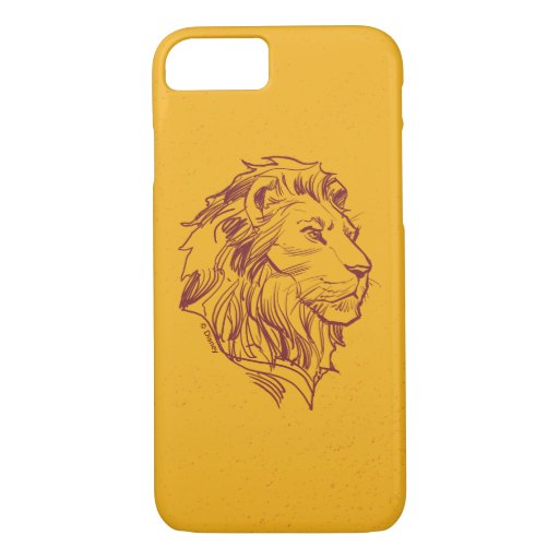 Lion King | Adult Simba Profile Sketch iPhone 8/7 Case