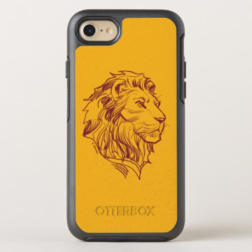Lion King | Adult Simba Profile Sketch OtterBox Symmetry iPhone 8/7 Case