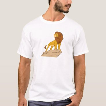 Disney Themed Lion King adult Simba standing proud on rock cliff T-Shirt