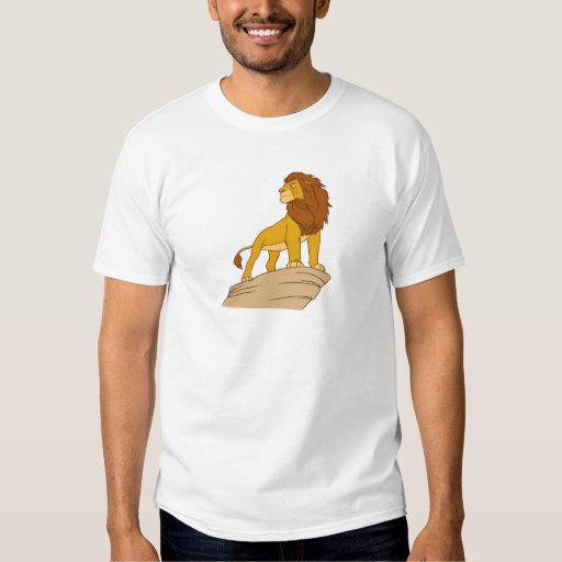 Lion King adult Simba standing proud on rock cliff T Shirts