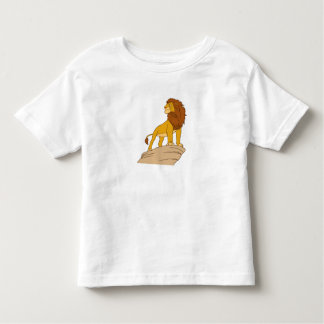 Lion King adult Simba standing proud on rock cliff Tshirt