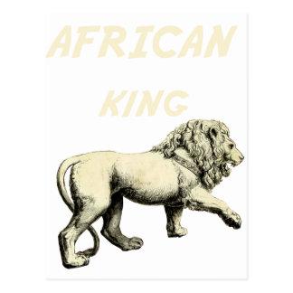 Lion King African King Africa Art Postcards