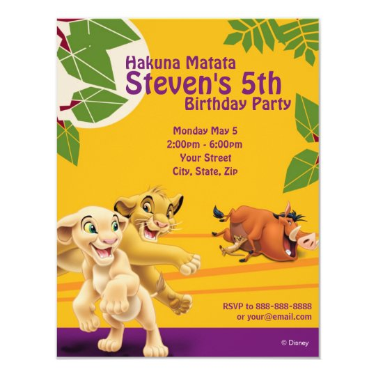 lion king invitations & announcements   zazzle, Baby shower invitations
