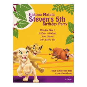 Lion King Birthday Invitation 4.25