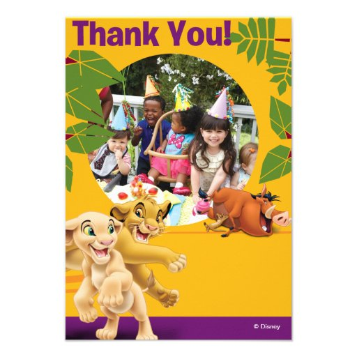 Lion King Birthday Thank You Cards Invitation