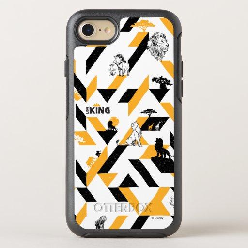 Lion King | Black & Gold Geometric Pattern OtterBox Symmetry iPhone 8/7 Case