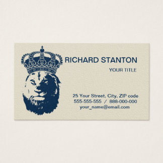 Lion king business card