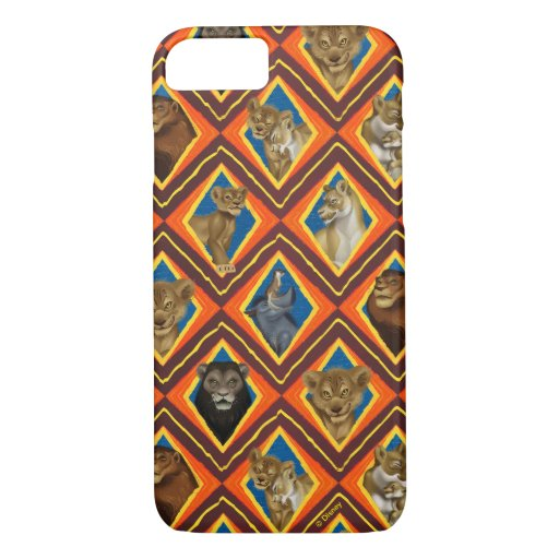 Lion King | Characters Diamond Pattern iPhone 8/7 Case