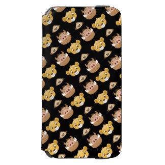 Lion King Emoji Land Pattern iPhone 6/6s Wallet Case