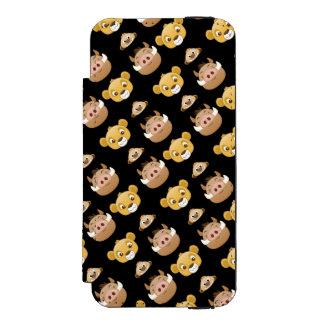 Lion King Emoji Land Pattern Wallet Case For iPhone SE/5/5s