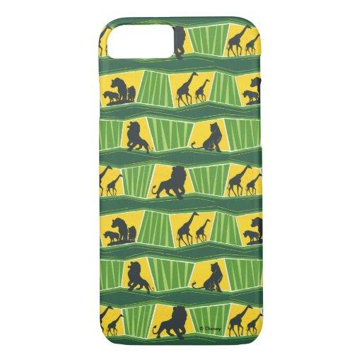 Lion King | Green & Gold Animal Pattern iPhone 8/7 Case