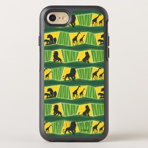 Lion King | Green & Gold Animal Pattern OtterBox Symmetry iPhone 8/7 Case