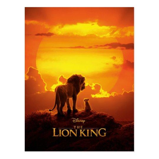 Lion King Mufasa Simba At Sunset Postcard