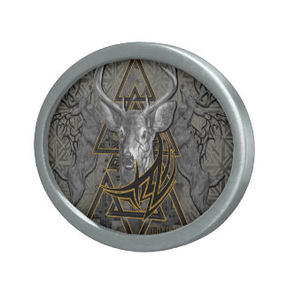 Lion King? No...Deer King rules! Oval Belt Buckle