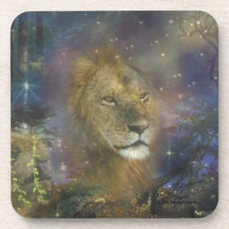Lion King of Jungle Beasts Drink Coaster