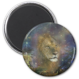 Lion King of Jungle Beasts Magnet